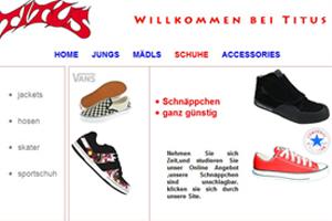 Beispiel für eine statische Webseite im Browser