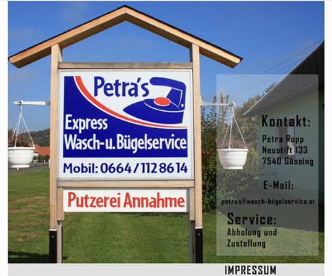 Petras Wasch und Bügelservice