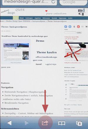 Webseite als App speichern Bild 1