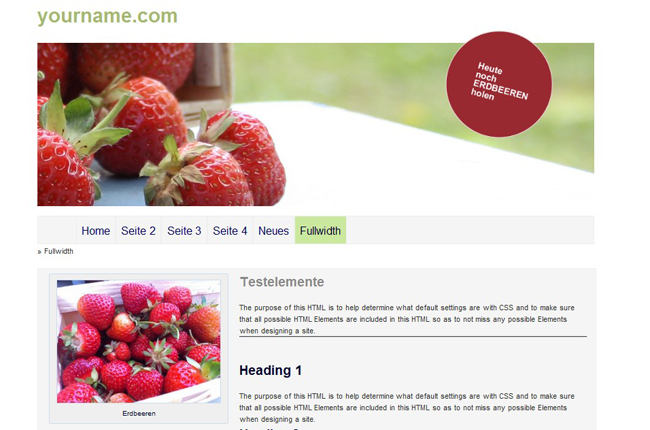 Theme Erdbeer