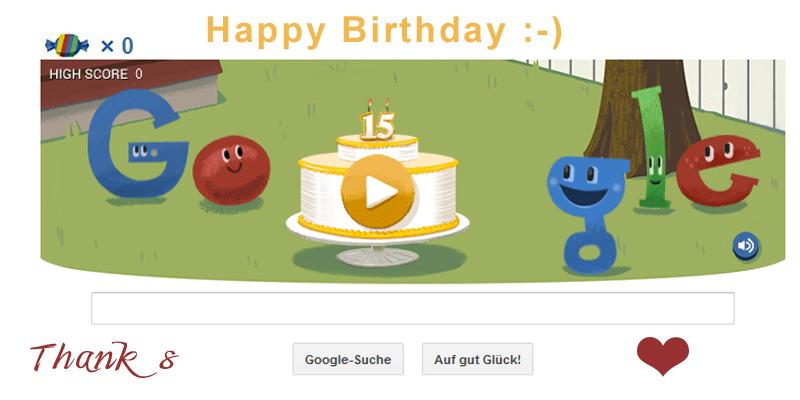 Google 15 Jahre