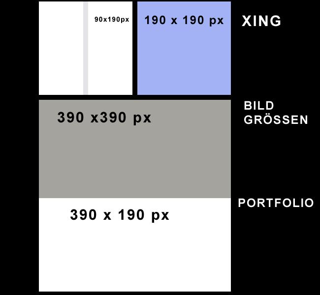 Xing Portfolio Bildgrößen
