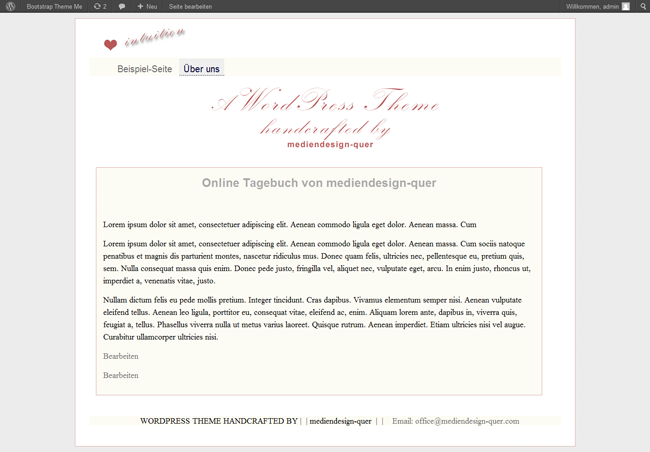"WordPress Theme ""Romance"""