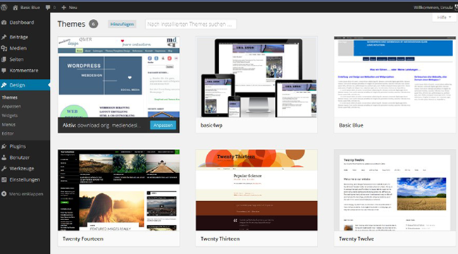 WordPress Dashboard Themes