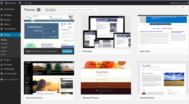 WordPress Dashboard Themes
