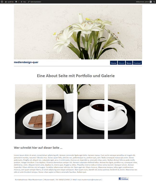 WordPress Theme Spring About Seite