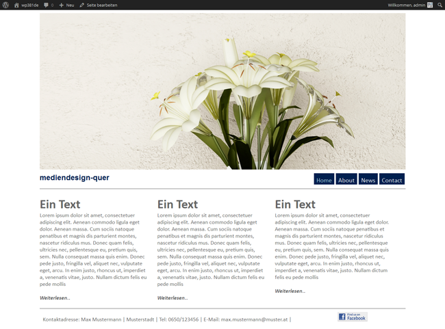 WordPress Theme Spring Home Seite