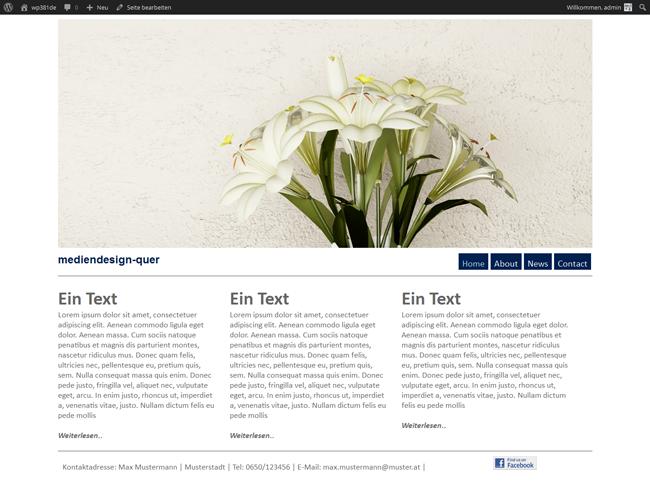 WordPress Theme Spring Home Seite