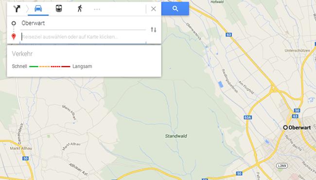 neues Google Maps Routenplaner
