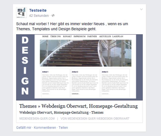 Newsfeed Link Post Facebook