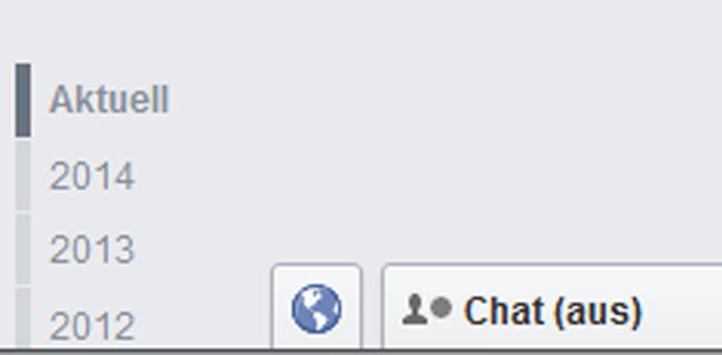 Facebook Chatfunktion aus