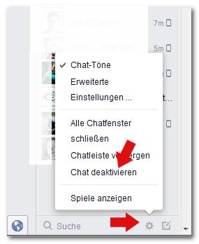 Facebook Chat deaktivieren