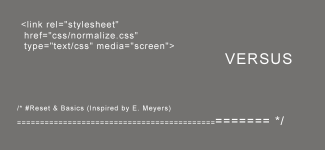 Normalize.css VS CSS-Reset