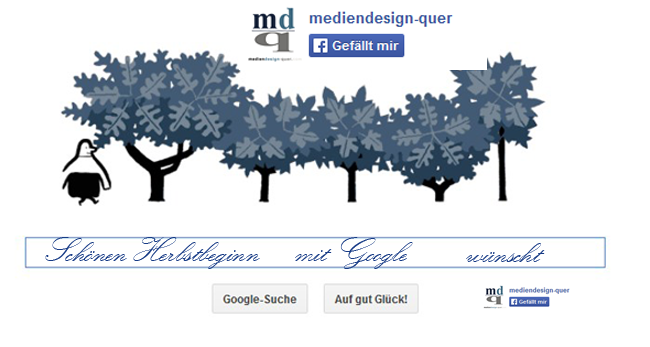 Herbstbeginn mit Google
