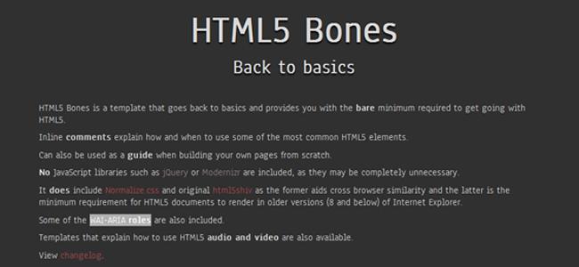 html5 bones