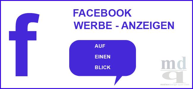 FB Werbeformate auf einen Blick
