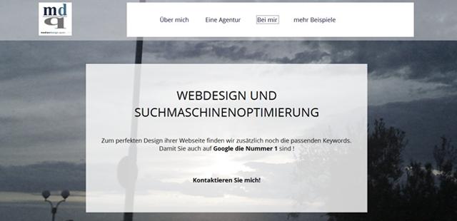 Webdesign mit Parallax Scrolling