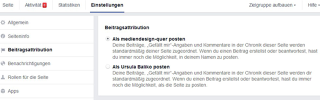 Facebook Beitragsattribution