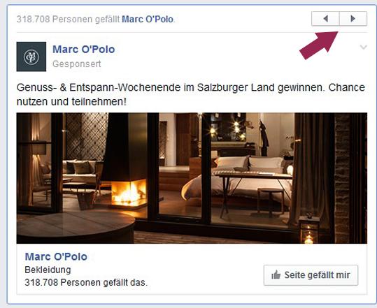 Facebook Werbung neuer Button