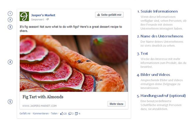 Facebook Werbeanzeige für Computer