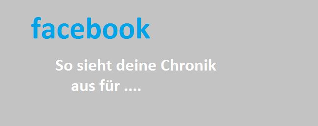 Facebook: So sieht deine Chronik aus für
