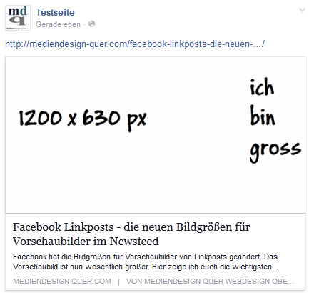 Facebook Linkpost gross