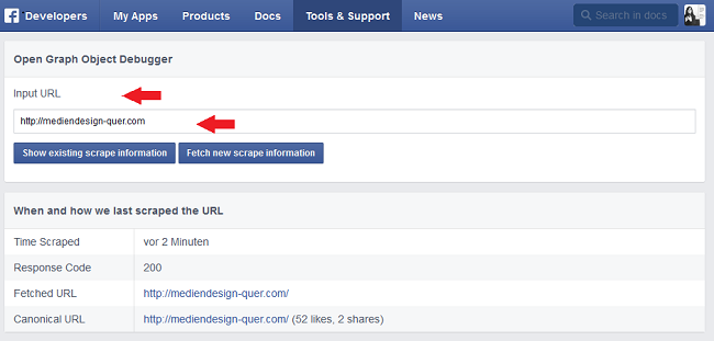 Facebook Open Graph Debug Tool