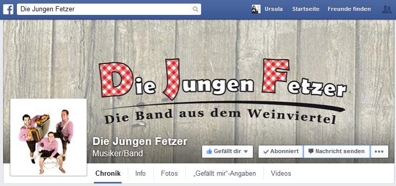FB Fanpage die jungen Fetzer