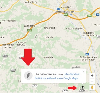 Google Maps Light Modus