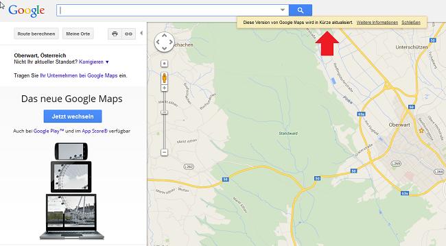 Alte Google Maps zurückholen