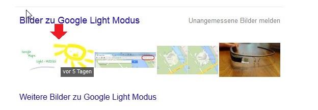 Bilder zu Google Light Modus
