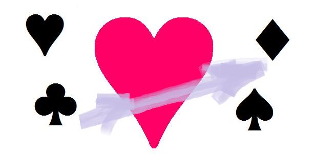 Kartensymbole - Pik-Karo-Herz-As