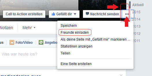 Button Drei Punkte Facebook