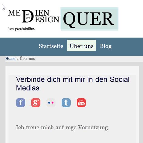 Social Media Buttons im WordPress Frontend