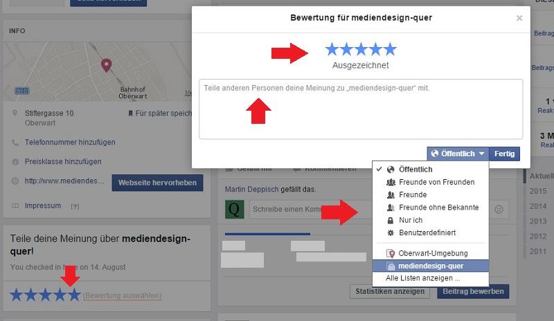 ausgezeichnet - 5 Sterne Rezension Facebook