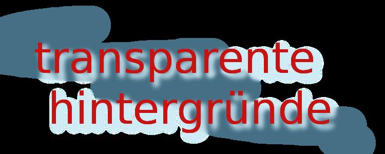 Transparenter hintergrund bei bild