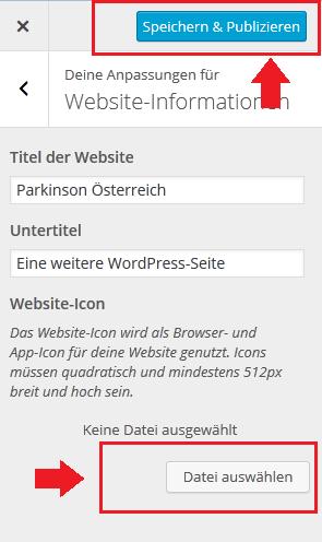 wordpress-icon-hochladen