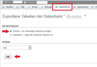 datenbank-exportieren