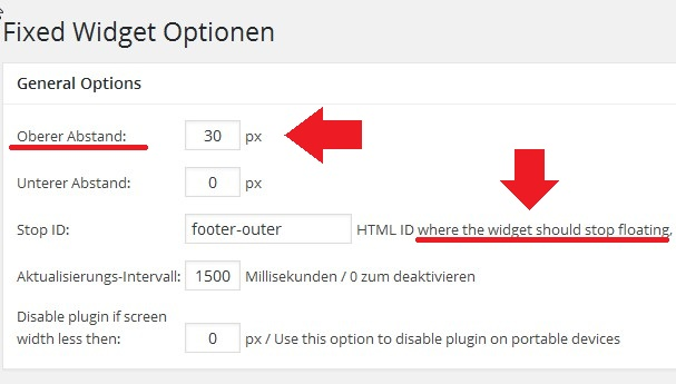 fixed-widget-optionen