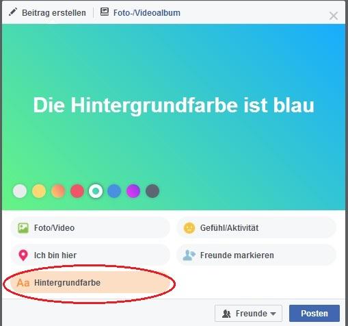 facebook- hintergrundfarbe
