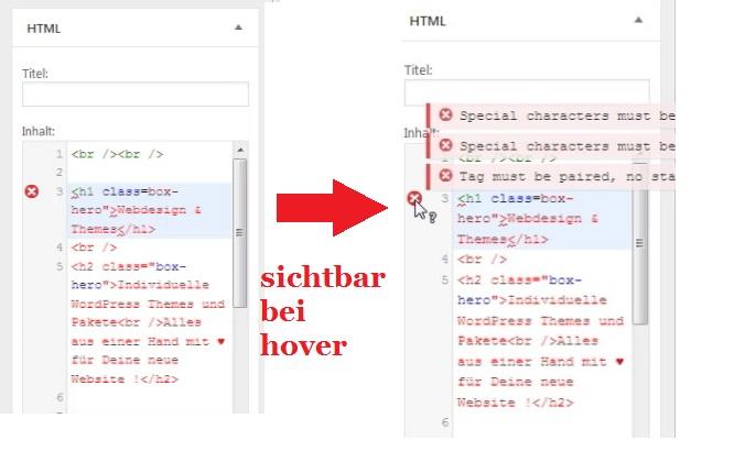 syntax-meldung-wordpress-html-widget