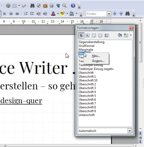 Open Office Writereigene Standardvorlage Erstellen So Gehts