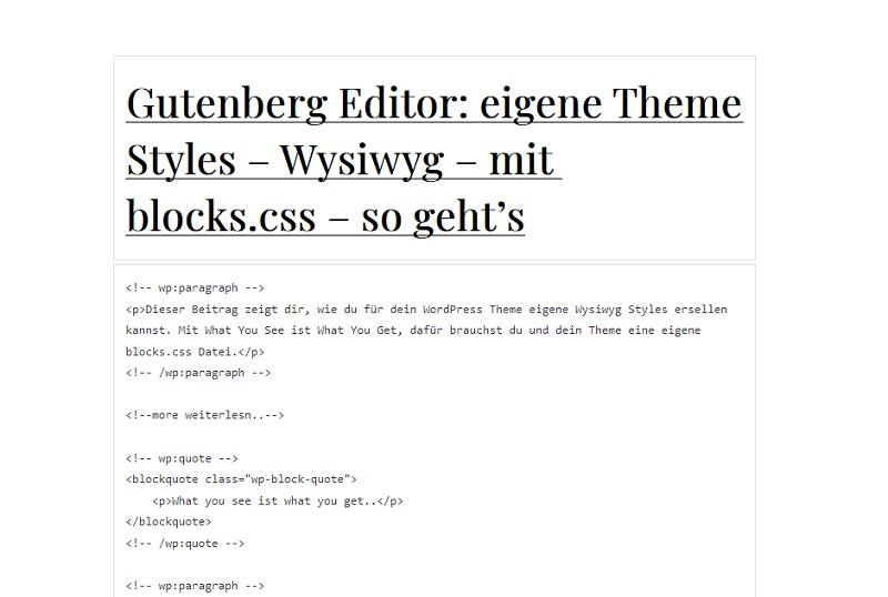 gutenberg-code-ansicht