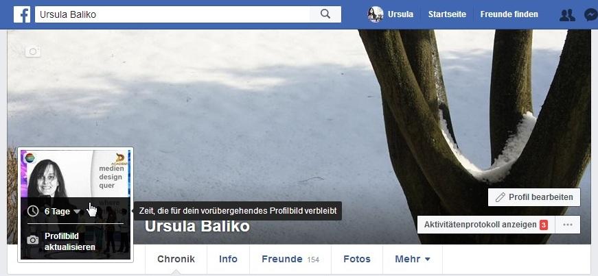 Verlängern profilbild facebook temporäres Nep facebook