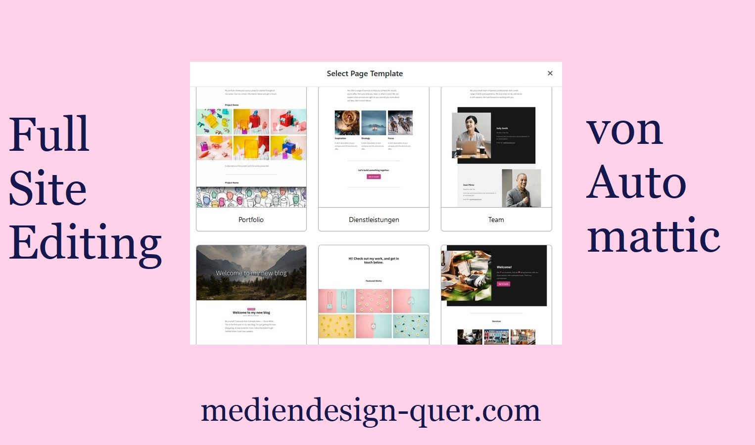 Full Site Editing WordPress