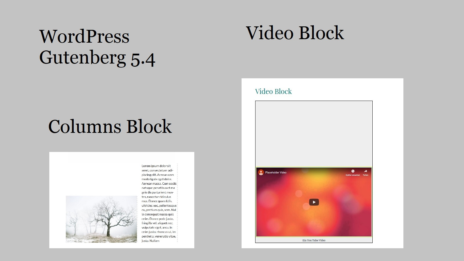 WordPress Gutenberg 5.4