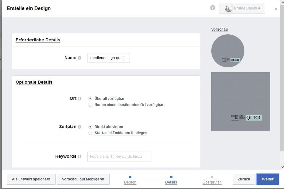 Facebook Design Erstellen