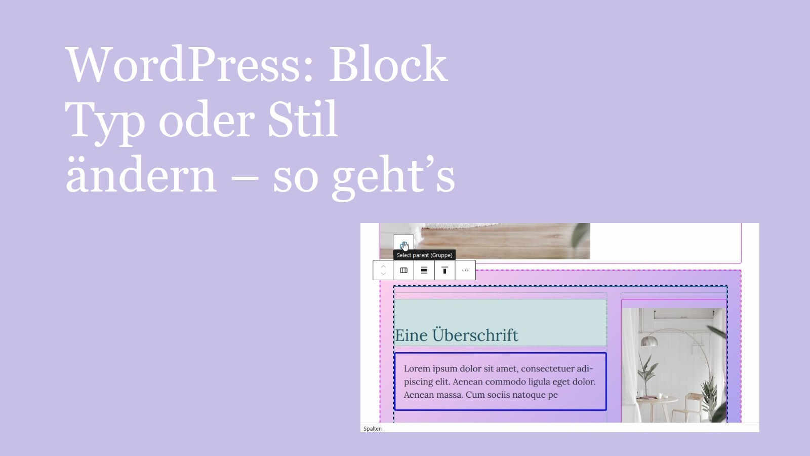 wordpress-block-typ-oder-stil-aendern
