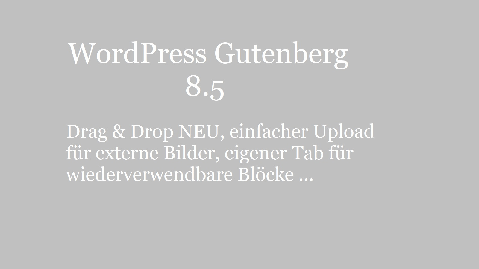wordpress-gutenberg-8.5